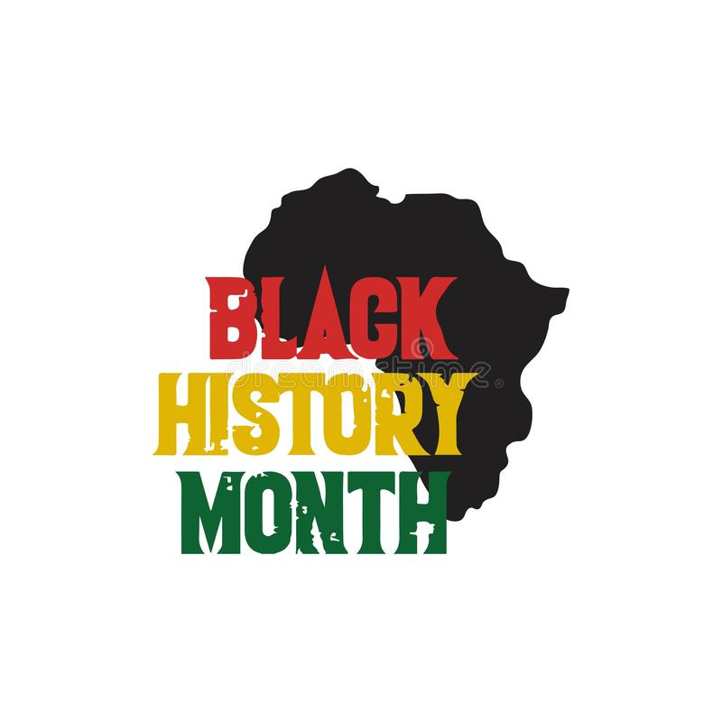 Free Black History Month Vector Design Illustration Royalty Free Stock Photos - 137005058