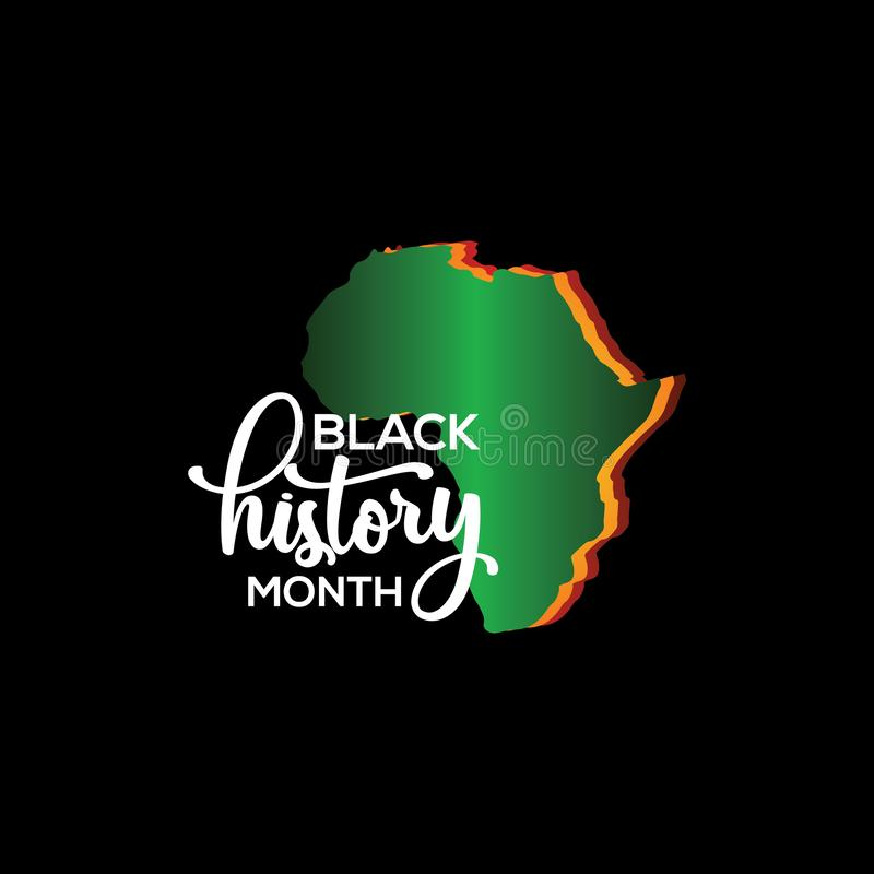 Black History Month Vector Template Design Illustration. Black History Month Template Design Illustration vector illustration