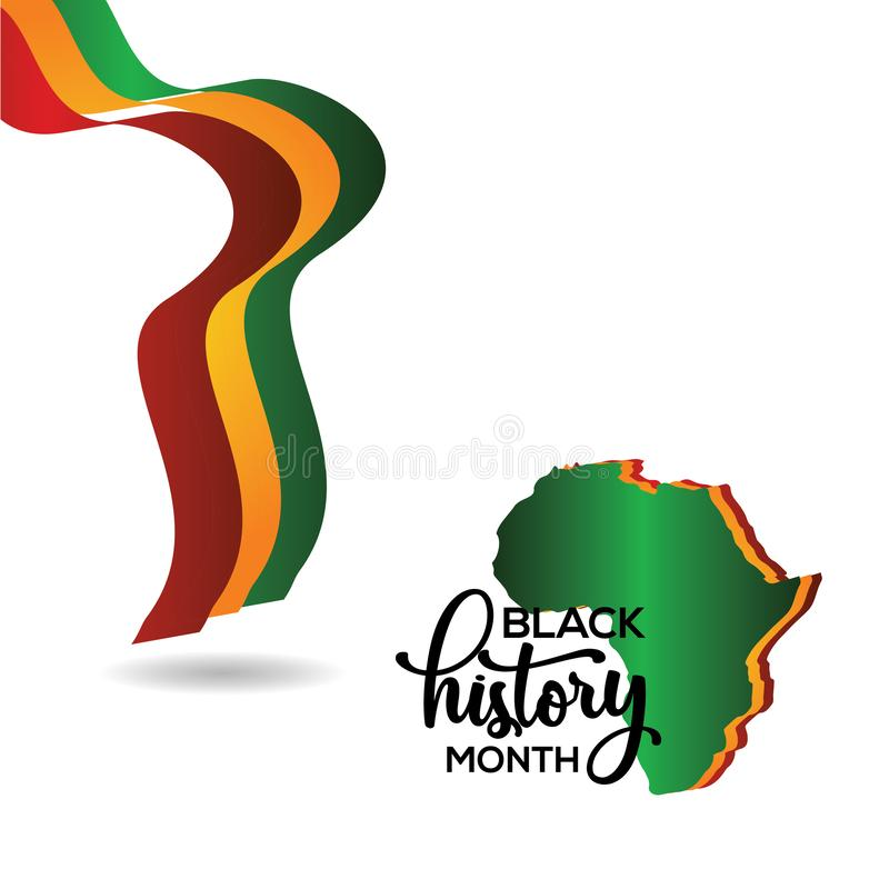Black History Month Vector Template Design Illustration. Black History Month Template Design Illustration royalty free illustration