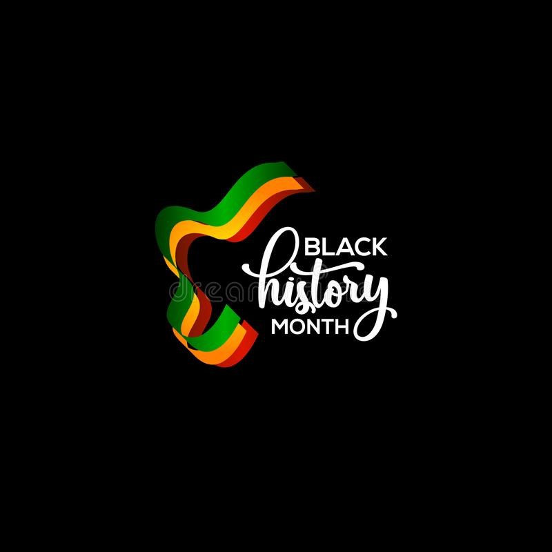 Black History Month Vector Template Design Illustration. History Month Vector Template Design Illustration royalty free illustration