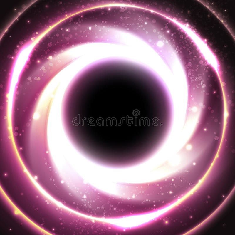 Free Black Hole At The Galactic Center. Space Vector Royalty Free Stock Image - 57565716