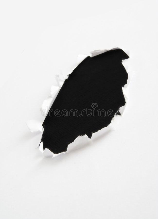 Black hole in paper royalty free stock photography