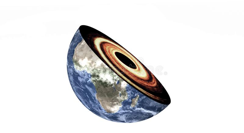 Black Hole in the planet earth Cut isolated royalty free stock photos