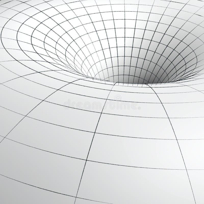 Black hole sketch stock illustration. Illustration of grid ...