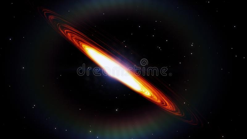 Black hole, space distortion, anomaly, high mass, this image elements furnished by NASA. vector illustration