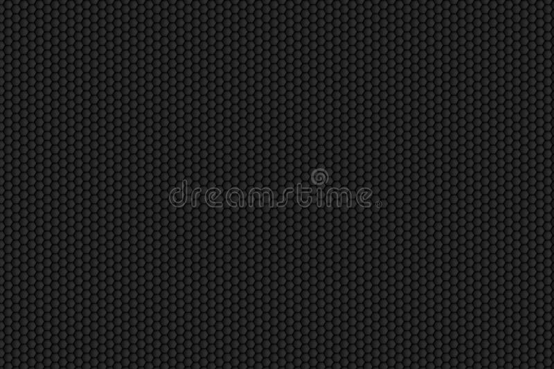 Black honeycomb pattern. For background texture vector illustration