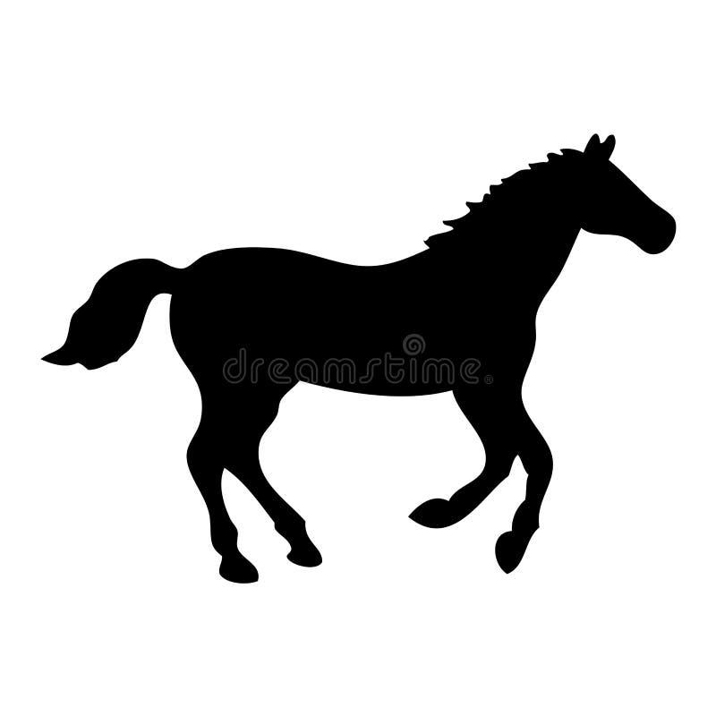 Download Black horse stock vector. Image of dressage, design, side - 3438421