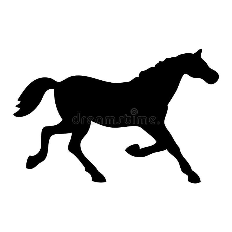 Black horse stock photography