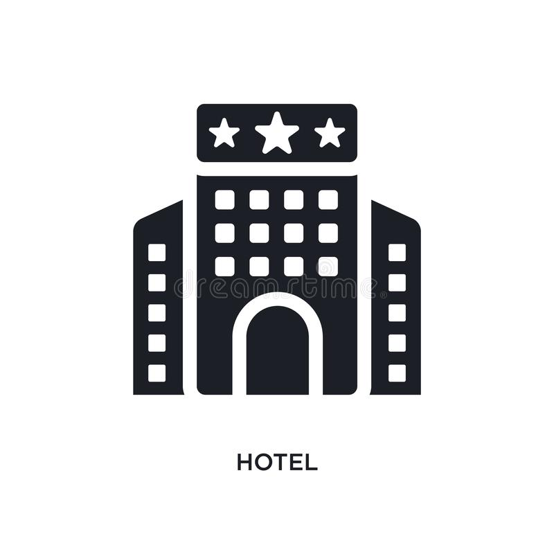 black hotel isolated vector icon. simple element illustration from  concept vector icons. hotel editable logo symbol design on stock illustration