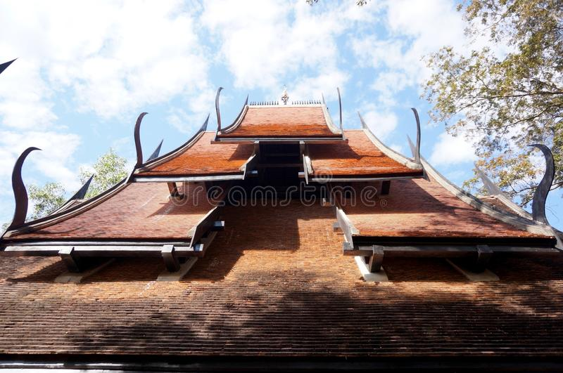 The Black House or Baandam Museum roof view royalty free stock photo