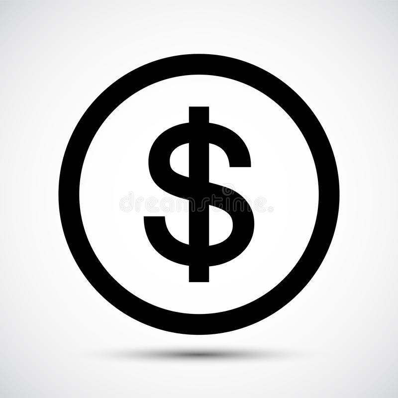 Black Icon Dollar Symbol Sign Isolate on White Background,Vector Illustration EPS.10 vector illustration