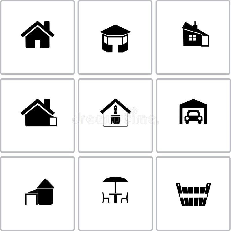 Buisness icon vector illustration. Black icon hause buisness illustration vector stock illustration