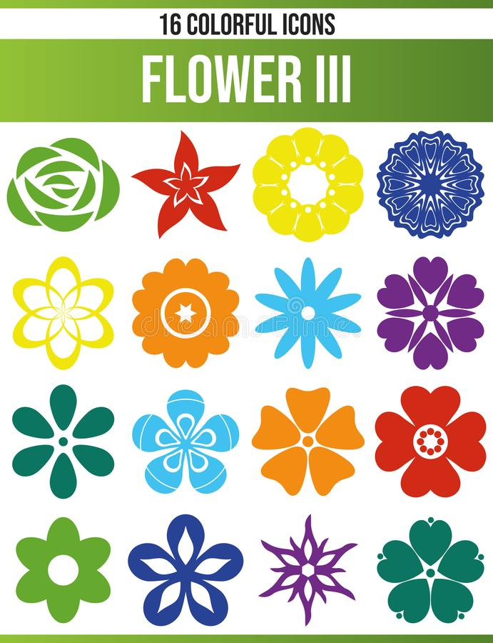 Black Icon Set Flower III. Black pictograms / icons on flowers. This icon set is perfect for creative people and designers who need the theme of flowers in their royalty free illustration