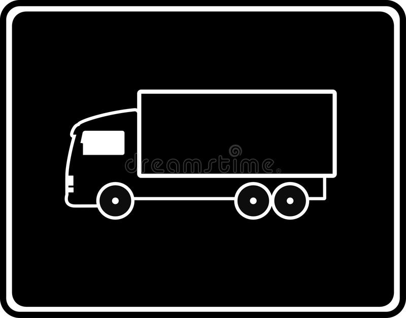 Download Black Icon With Shipping Truck Royalty Free Stock Photos - Image: 31003328