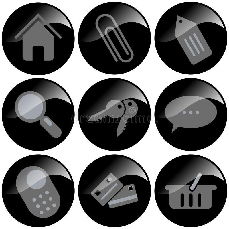 Black Icons vector illustration