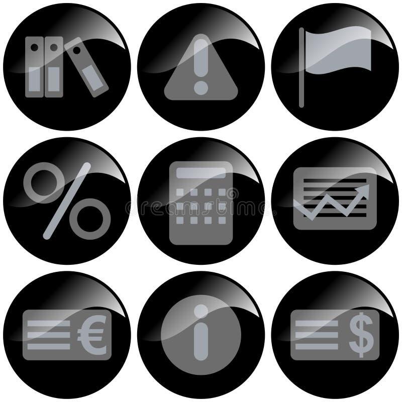 Free Black Icons Stock Photography - 2344232