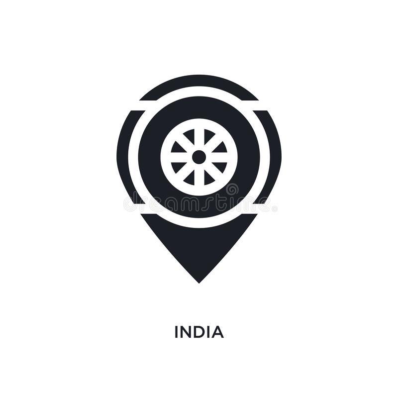 black india isolated vector icon. simple element illustration from religion concept vector icons. india editable logo symbol royalty free illustration