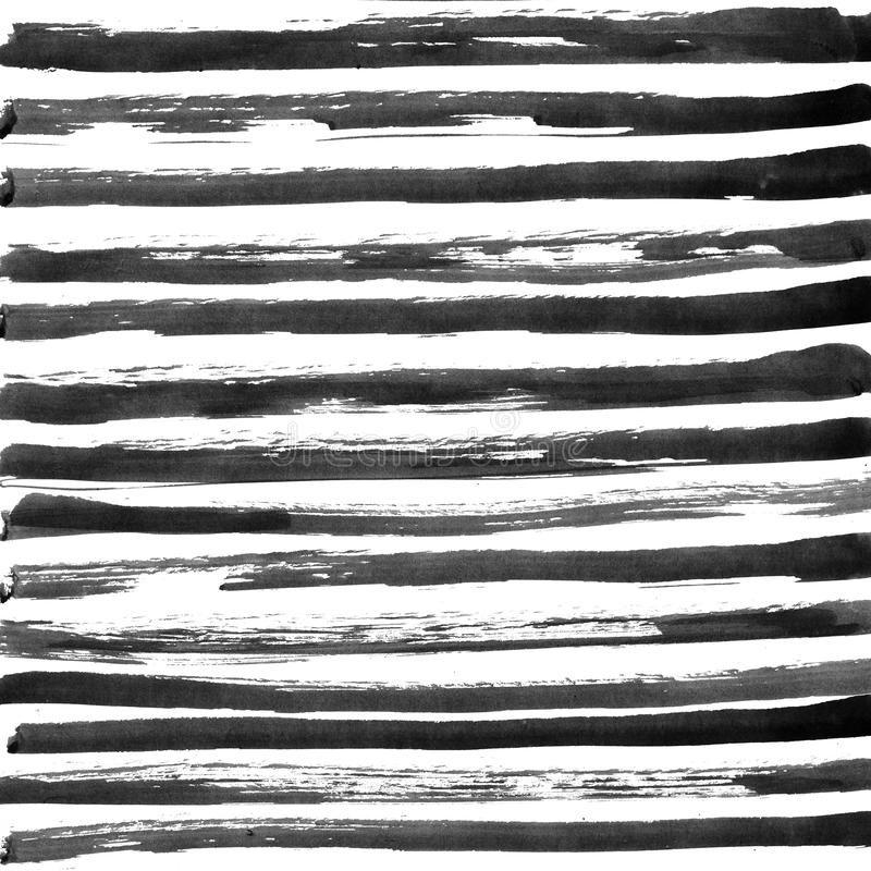 Black ink abstract stripes background. Hand drawn. Lines. Ink illustration. Simple striped background royalty free stock image