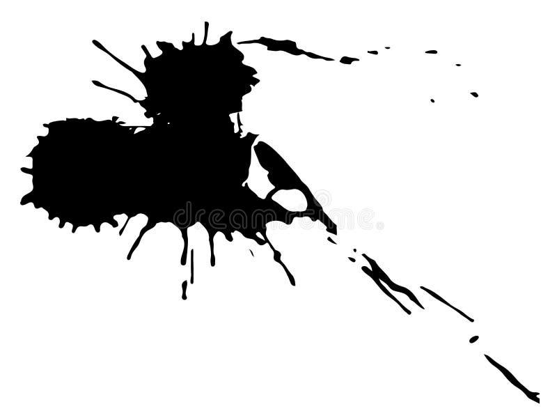 Black ink blot. Drop black ink blot isolated on white background vector illustration