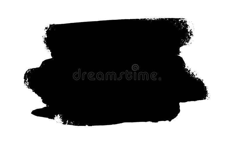 Black ink splash vector illustration