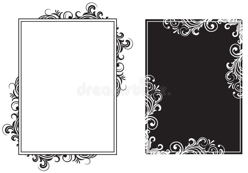 black inramniner white stock illustrationer