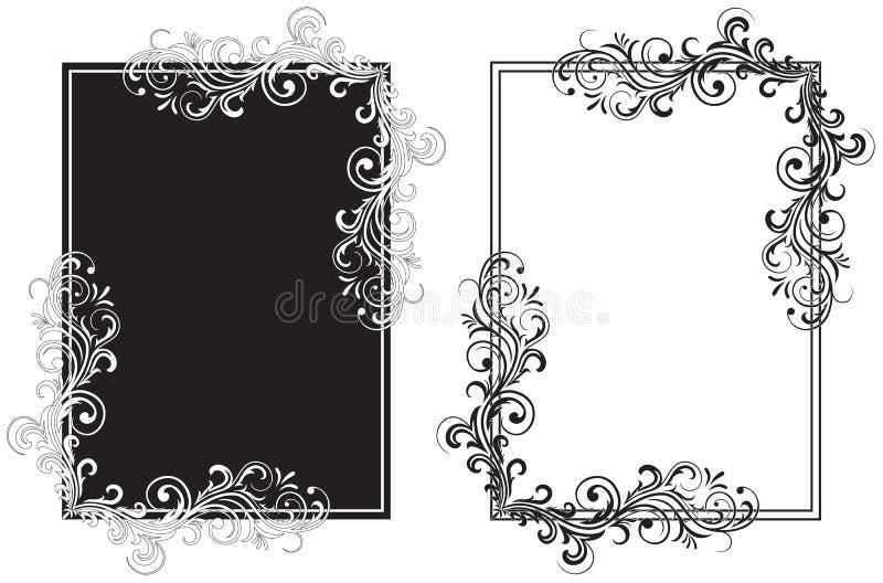 black inramniner white vektor illustrationer