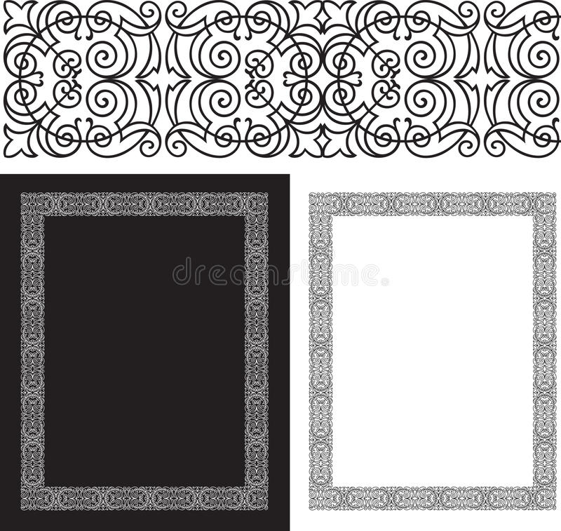 Download Black Intricate And Ornate Border Stock Vector - Image: 13416636