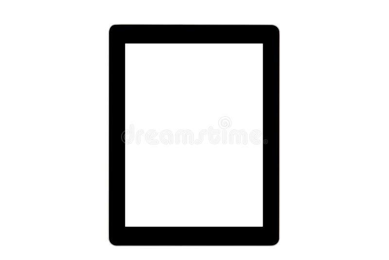Black ipad on white background stock images