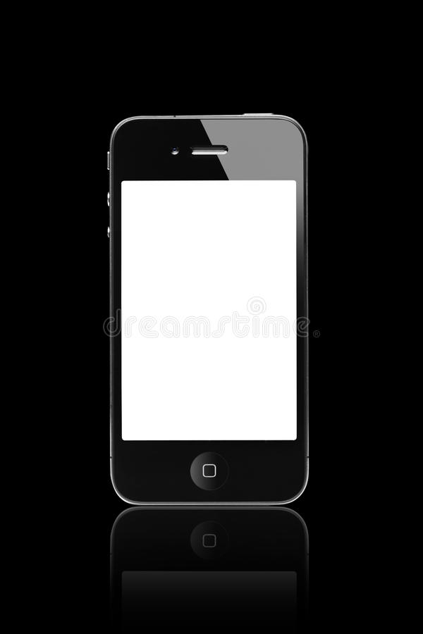 iphone 4 black screen black iphone 4s with a blank screen editorial stock photo 7067