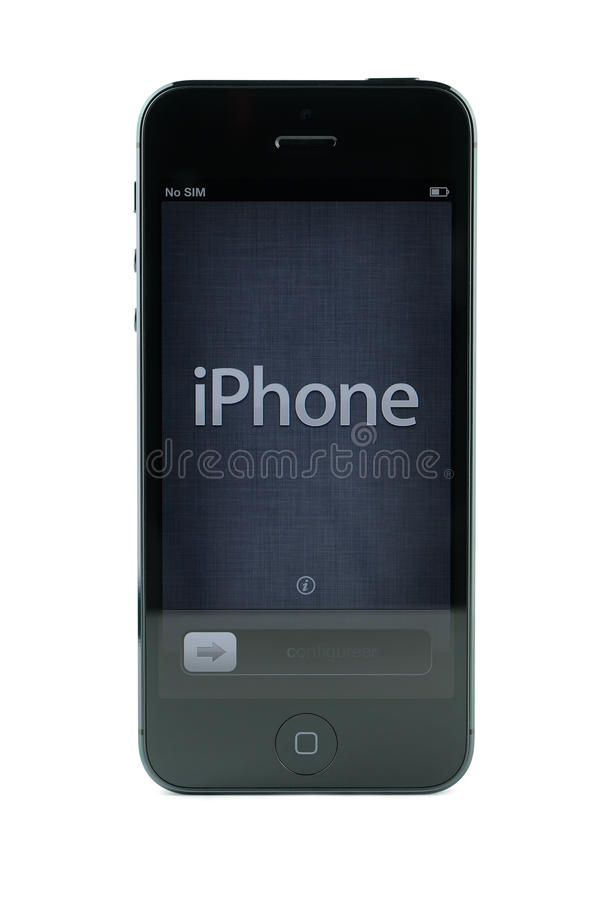 Black iPhone 5 royalty free stock images