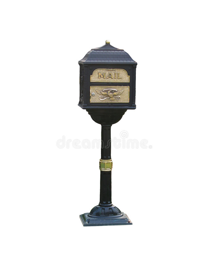 Black Iron Mailbox royalty free stock photo