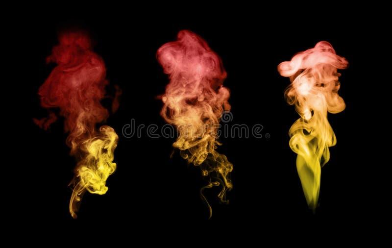 black isolerad rök royaltyfria foton