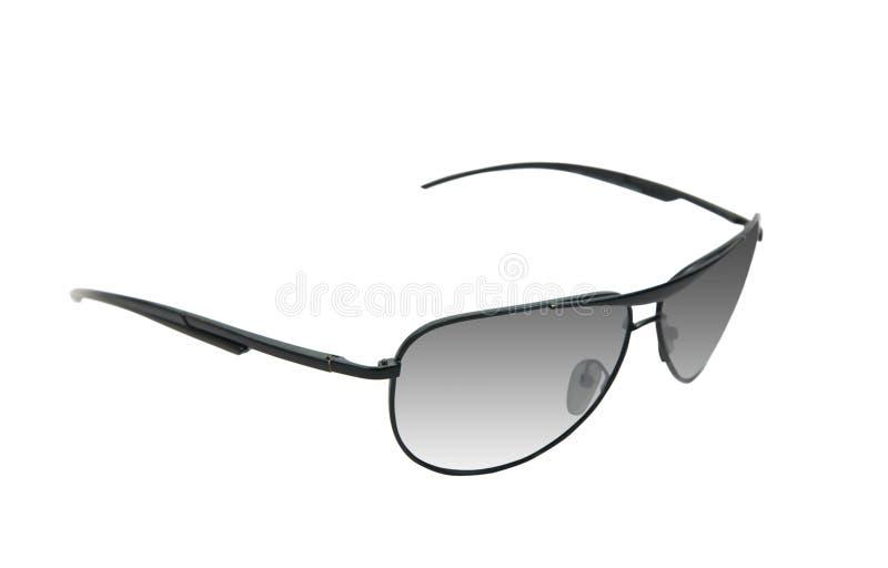 black isolerade vit solglasögon arkivfoton
