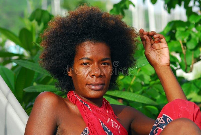 Black Italian Woman Royalty Free Stock Photo