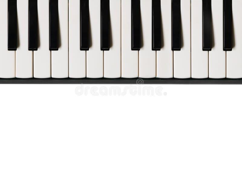 black ivory keys piano white Μουσικό επίπεδο υπόβαθρο στοκ εικόνα