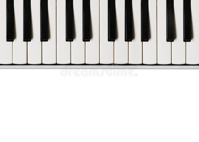 black ivory keys piano white Μουσικό επίπεδο υπόβαθρο στοκ εικόνες