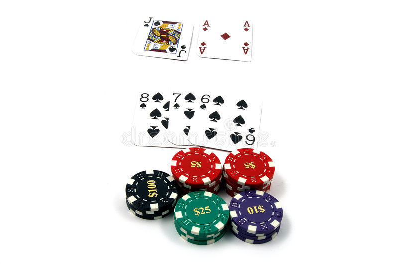 Black jack 21 immagine stock