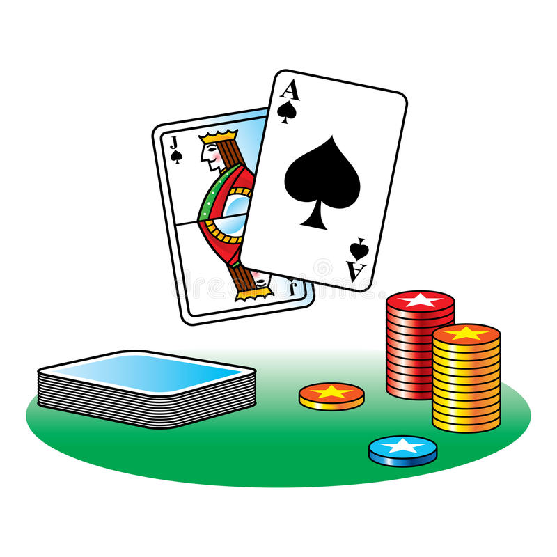 Black Jack Poker Royalty Free Stock Image