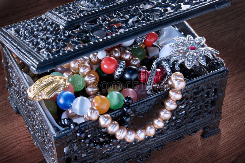 Download Black jewelry box stock image. Image of decoration, close - 9608889