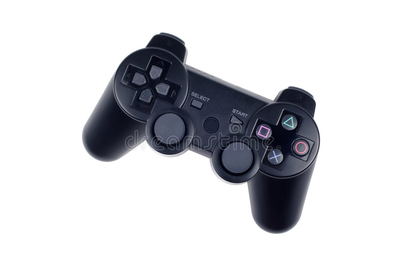 Black joystick isolated. Joystick game controller isolated on white background royalty free stock photo