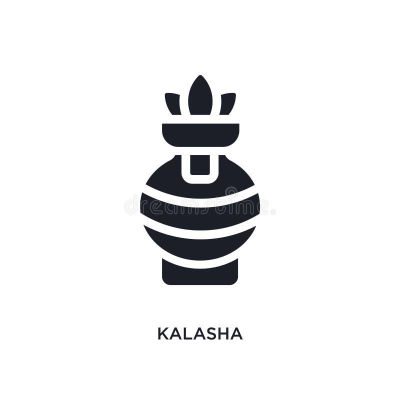 black kalasha isolated vector icon. simple element illustration from religion concept vector icons. kalasha editable logo symbol royalty free illustration