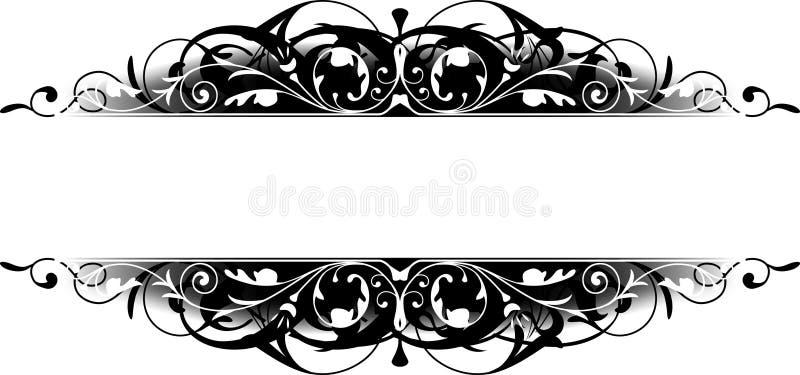 black kantscrollen royaltyfri illustrationer