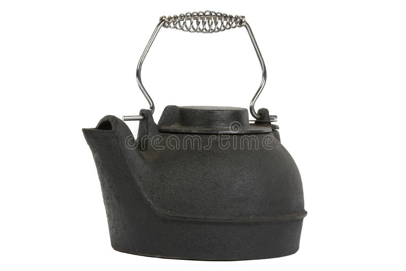 Black kettle royalty free stock photo