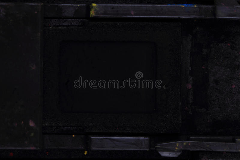 Black(key) toner powder. As nice technological background royalty free stock photo