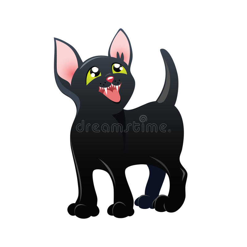Download Black kitten stock vector. Illustration of november, kitty - 16957982