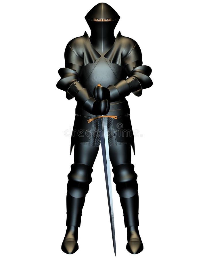 The Black Knight royalty free illustration