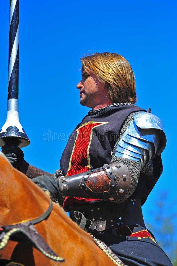 Download Black Knight Mounted On His Steed Editorial Image - Image: 20467990