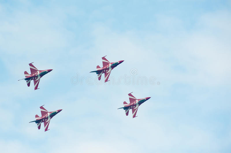 Black Knights at the Singapore Airshow 2014 stock photo