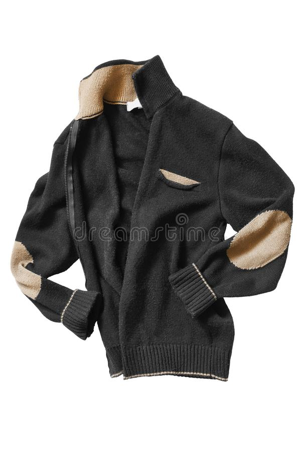 Knitted jacket isolated royalty free stock photo