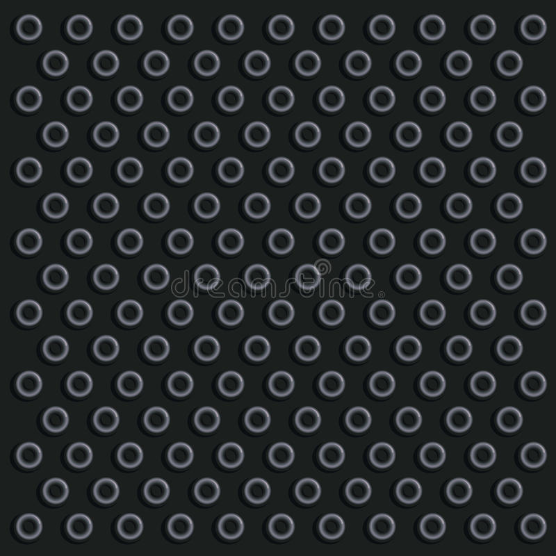 Black Knob Surface Stock Vector